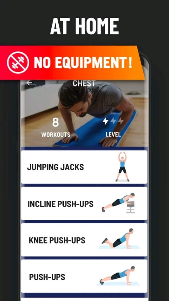 Home Workout MOD APK latest version for Android